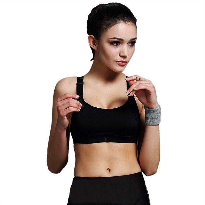Vertvie Sports Bra Women Push Up Bra For Running Gym Shakeproof Fitness Cropped Top Female Yoga Bras Vest Sujetador Deportivos