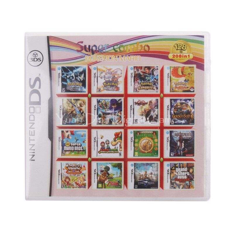 Nintendo NDS 208 IN 1 Video Game Cartridge Console Card