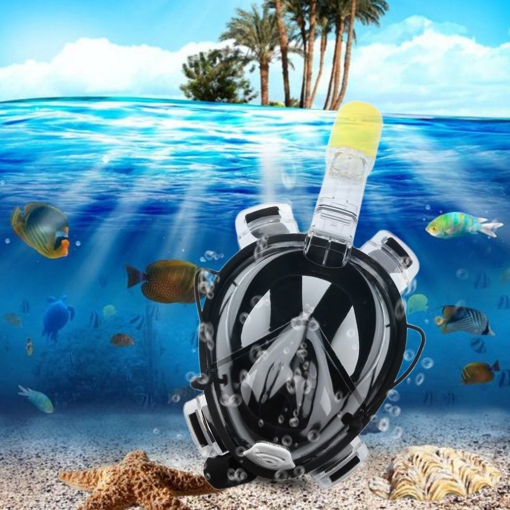 R10 Professional Adult Full Face Diving Mask Comfortable Waterproof Underwater Diving Mask Anti Fog Full Face Diving Mask new