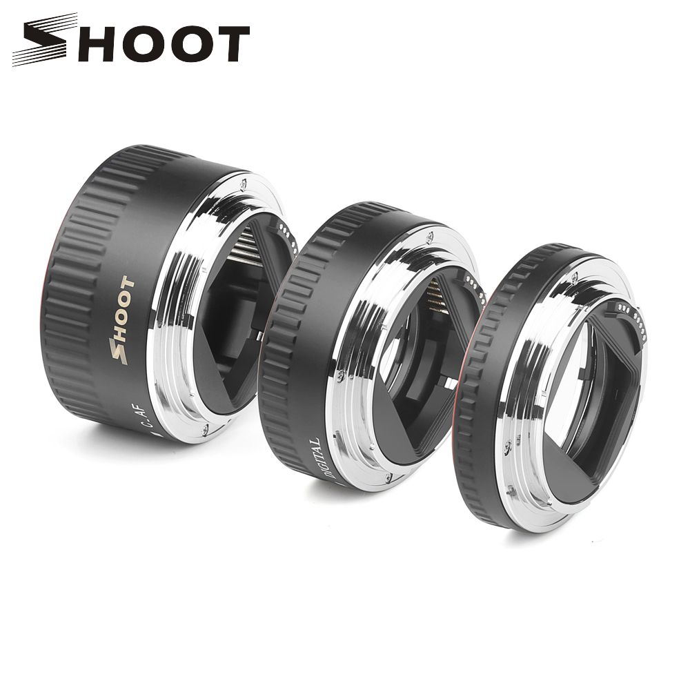 Anneau de Tube d'extension Macro à mise au point automatique en métal rouge TTL pour Canon 600d 500d 80d EOS EF EF-S 60D pour accessoire d'appareil photo Canon