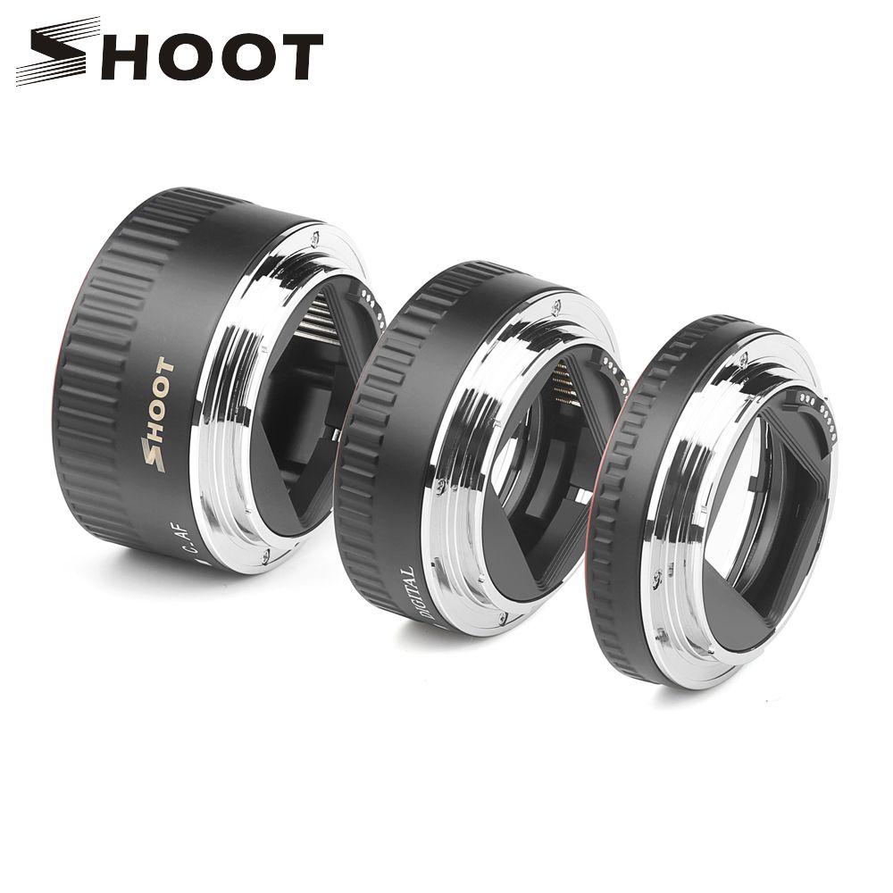 Anneau de Tube d'extension Macro à mise au point automatique en métal rouge TTL pour Canon 600D 550D 200D 800D EOS EF EF-S 6D pour accessoire d'appareil photo Canon