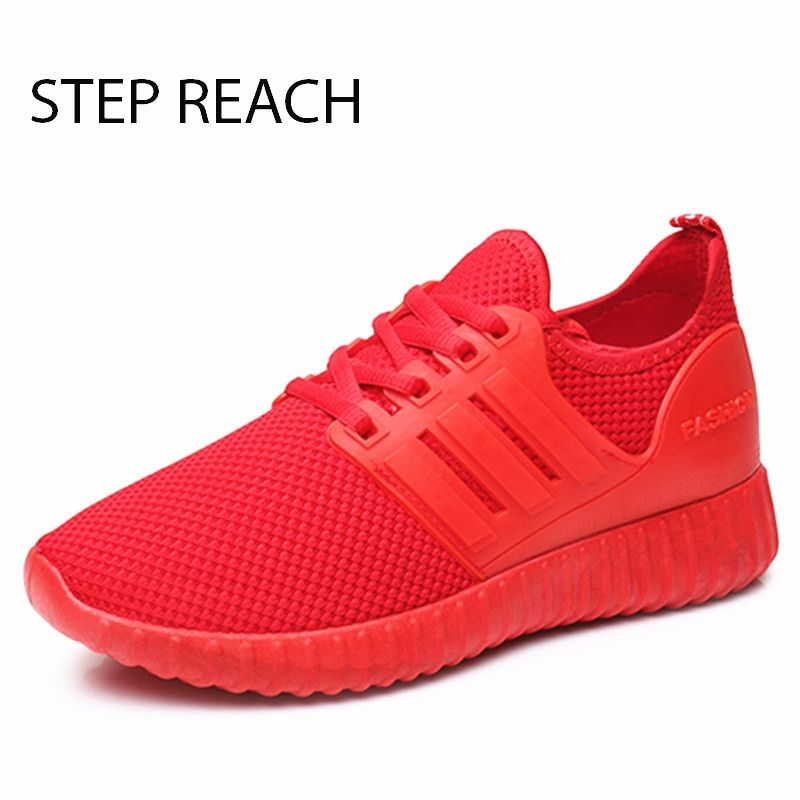 STEPREACH Brand shoes woman women casual shoes mesh air mesh lace-up rubber breathable round toe zapatos mujer tenis feminino