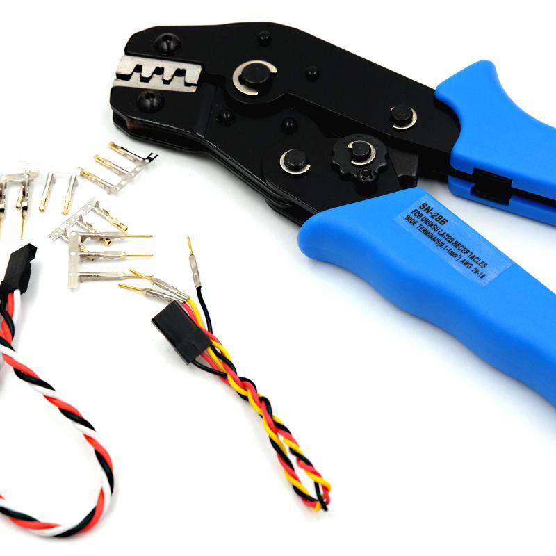 Pin Crimper Tool for Dupont 2.54mm 3.0~4.8mm Connector, Servo connector crimp tool