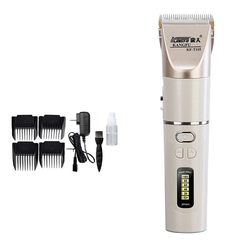 New Hair trimmer clipper lithium battery 2200 mah Rechargeable fine-tuning Quick charge Power display ceramic blade 100-240V