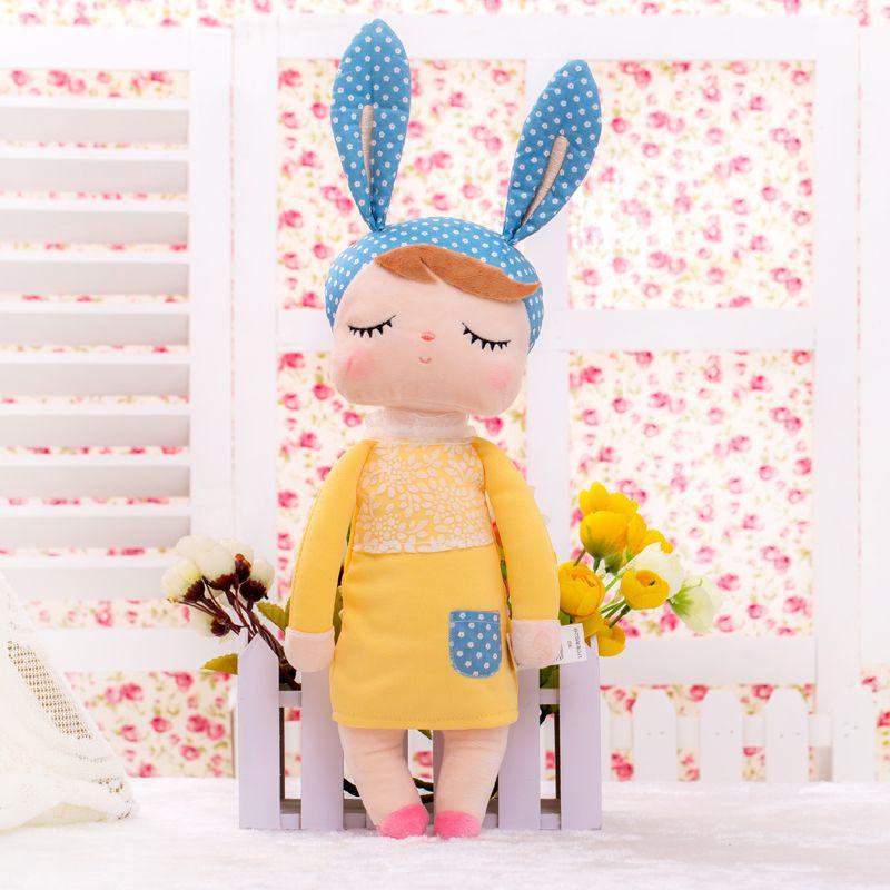 13 pouce En Peluche Doux Mignon Belle Peluche Bonecas Bébé Enfants Jouets pour les Filles D'anniversaire De Noël Cadeau Angela Lapin Fille Metoo poupée
