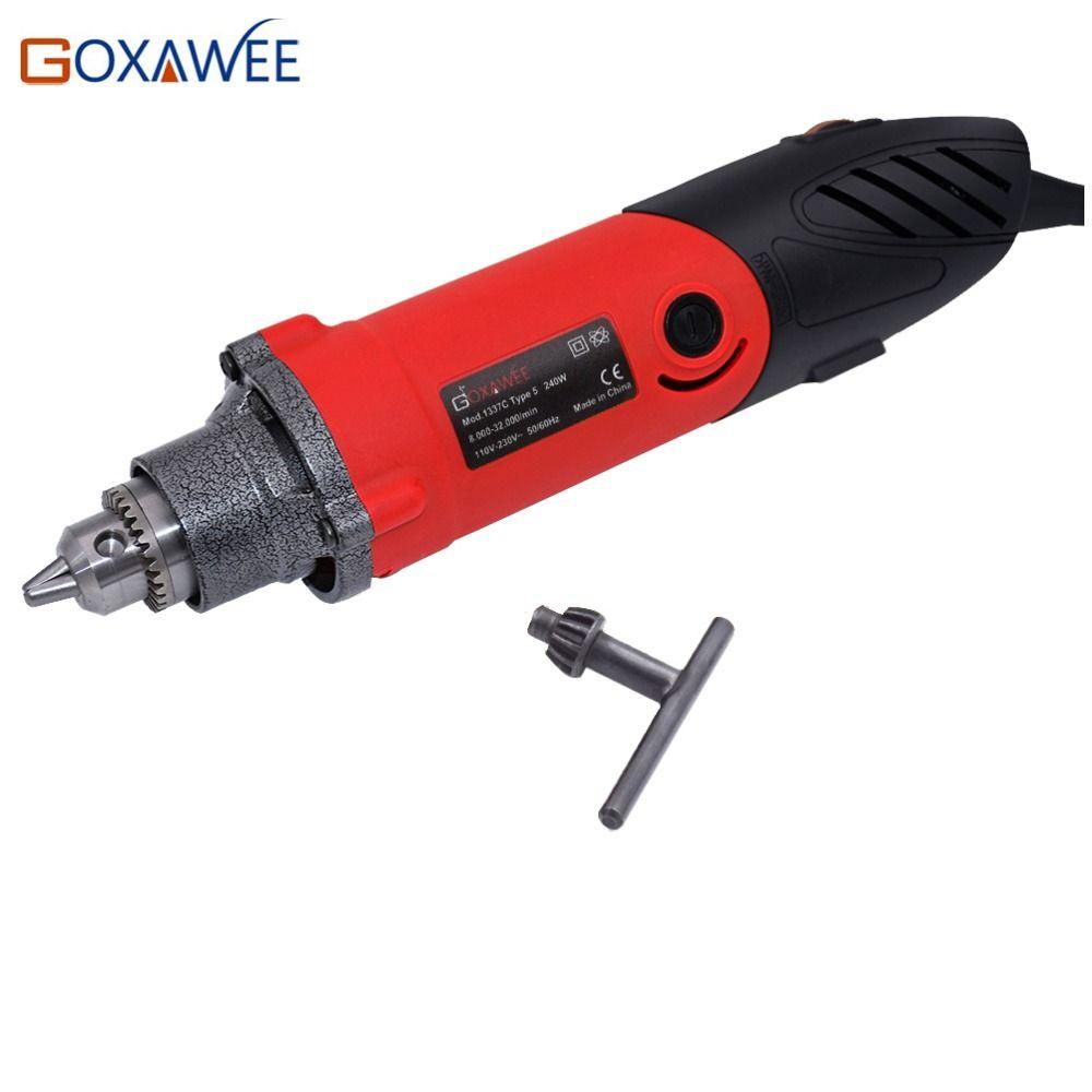 GOXAWEE 240 W Grande Puissance Électrique Mini perceuse meuleuse Graveur outils rotatifs Main machine de forage Pour accessoires dremel