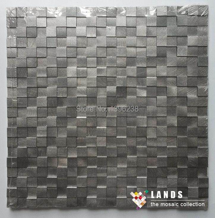 HEISS! 3D konvexen aluminium metall mosaik fliesen, küche backsplash TV hintergrund aufkleber, heimwerker tapete arttiles, LSAL1501