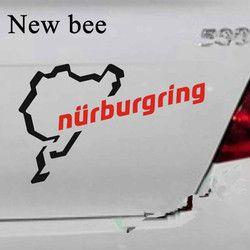 Newbee Auto Styling Die Racing Track Nürburgring Aufkleber Rennen Motorsport Vinyl Decor Aufkleber Für Auto Körper Fenster Wasserdichte Kraftstoff
