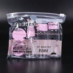 7 pcs/ensemble Voyage Mini Maquillage Cosmétique Visage Crème Pot Bouteilles En Plastique Transparent Vide Fard À Paupières Maquillage Contenant de Bouteille
