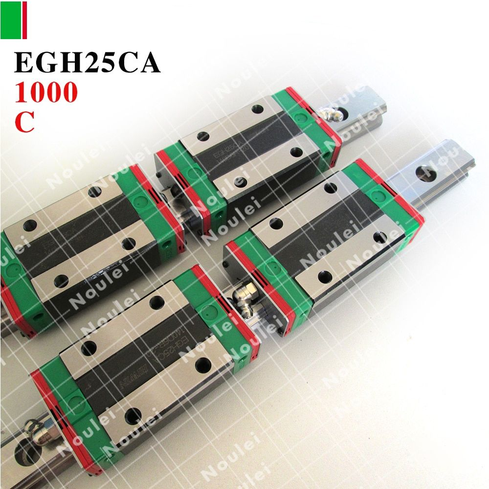 HIWIN EGH25CA slide block with 1000mm linear guide rail EGR25 for CNC parts