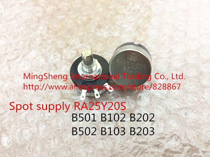 Original new 100% Japan import single turn potentiometer RA25Y20S B501 500R 1K 2K 5K 10K 20K around Europe (switch)