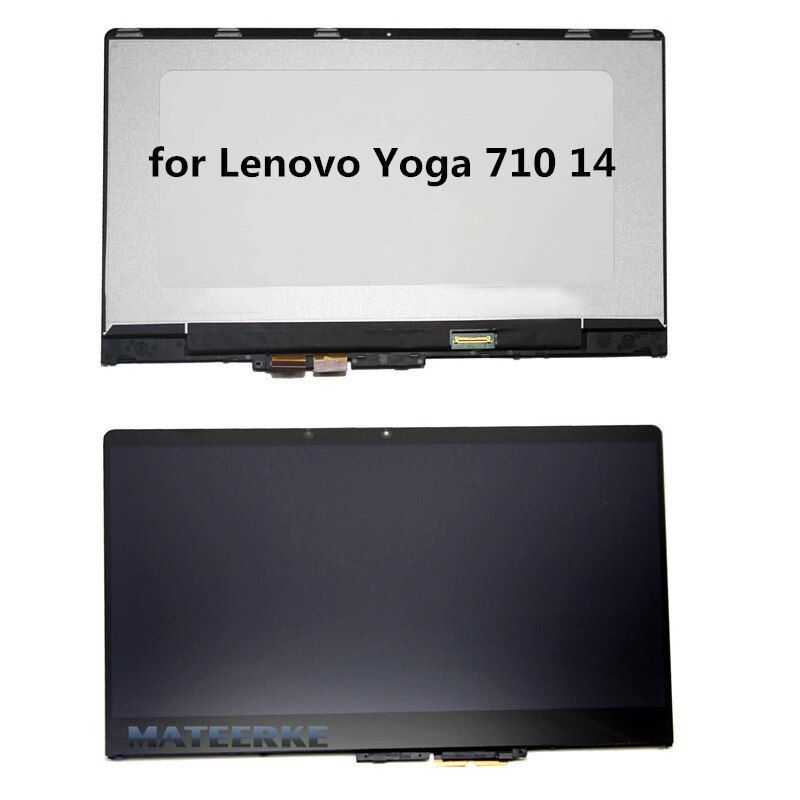 New For Lenovo Yoga 710-14 Yoga 710 14 Yoga 710-14IKB 80V4002NCD 1080P LCD LED Touch Screen Assembly with Frame