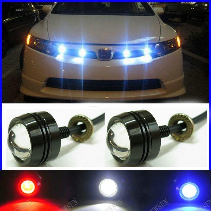 Feu inverse de brouillard de LED de voiture Super mince, le plus nouveau moteur de voiture de lumière de secours de jour de lumière blanche de œil d'aigle de LED