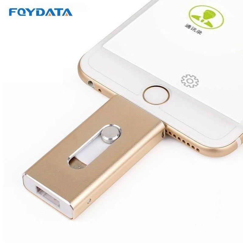 Livraison directe USB Flash Drive pour iPhone X/8/7/7 Plus/6/6 s/5 ipad métal stylo lecteur HD mémoire Stick 8G 16G 32G 64G 128 GFlash Driver