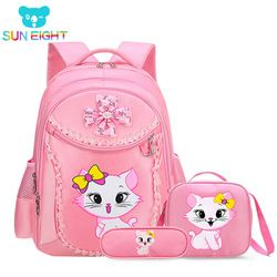 Princess Cat Children Backpack School Bags for girls Cartoon Kid Backpack Children School Backpack mochilas escolares infanti