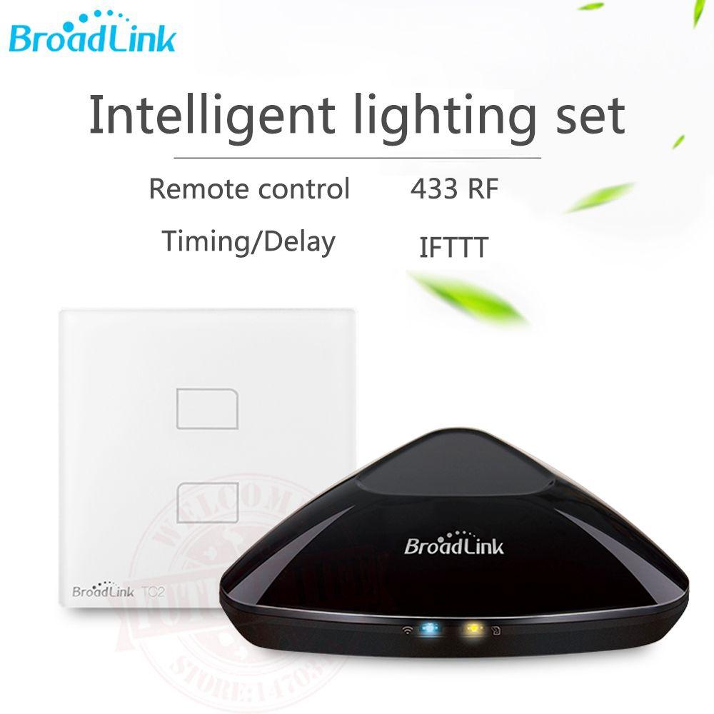 2017 Broadlink RM3 RM pro + EU RF/IR contrôleur de maison intelligente + interrupteur de lumière intelligente TC2 EU télécommande universelle via IOS Android