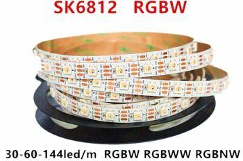 Meilleur Prix 1 m 5 m Adressable SK6812 RGBW led bande L'ACADÉMIE 4 Couleur dans 1 Led Étanche 30/60/144 led/pixles/m 5 V similaire WS2812B