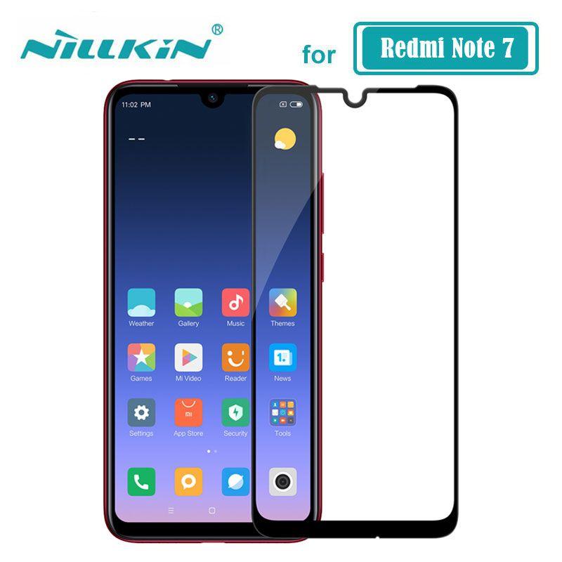 Redmi Note 7 verre Nillkin CP + couverture pleine colle protection d'écran verre trempé pour Xiaomi Redmi Note 7 Pro 7S