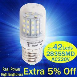 led bulb Bombillas Led Lamp E27 2835 Corn Bulb Christmas light LED Candle Lighting Led Spotlight For Indoor lighting