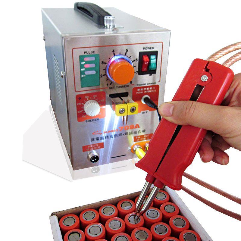 SUNKKO709A Pulse Battery Spot Welder 1.9kw Soldering Iron Station Spot Welding Machine 18650 16430 14500 battery Welde macheing