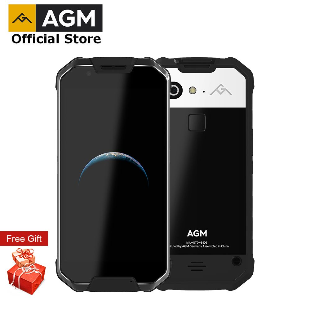 OFFICIAL AGM X2 5.54G Smartphone 6G RAM+64G/128GB ROM Android 7.1 <font><b>Mobile</b></font> Phone IP68 Waterproof Octa Core 6000mAh Rugged Phone