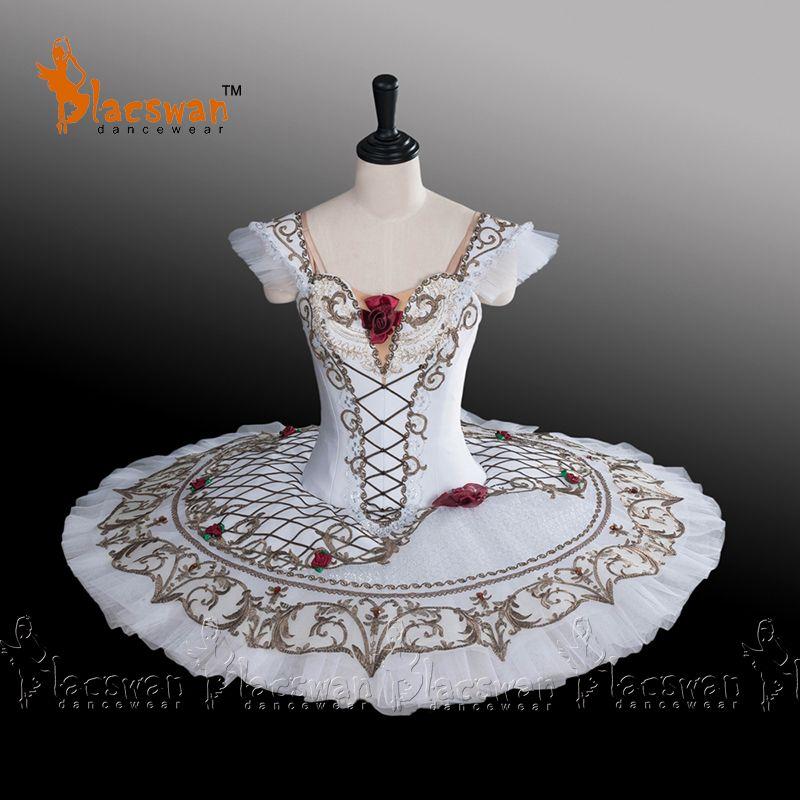 Paquita Professional Classical Ballet Tutu Costume BT686 White Ballet Stage Costume Pancake Tutus Ballet Girls Spanish Tutus