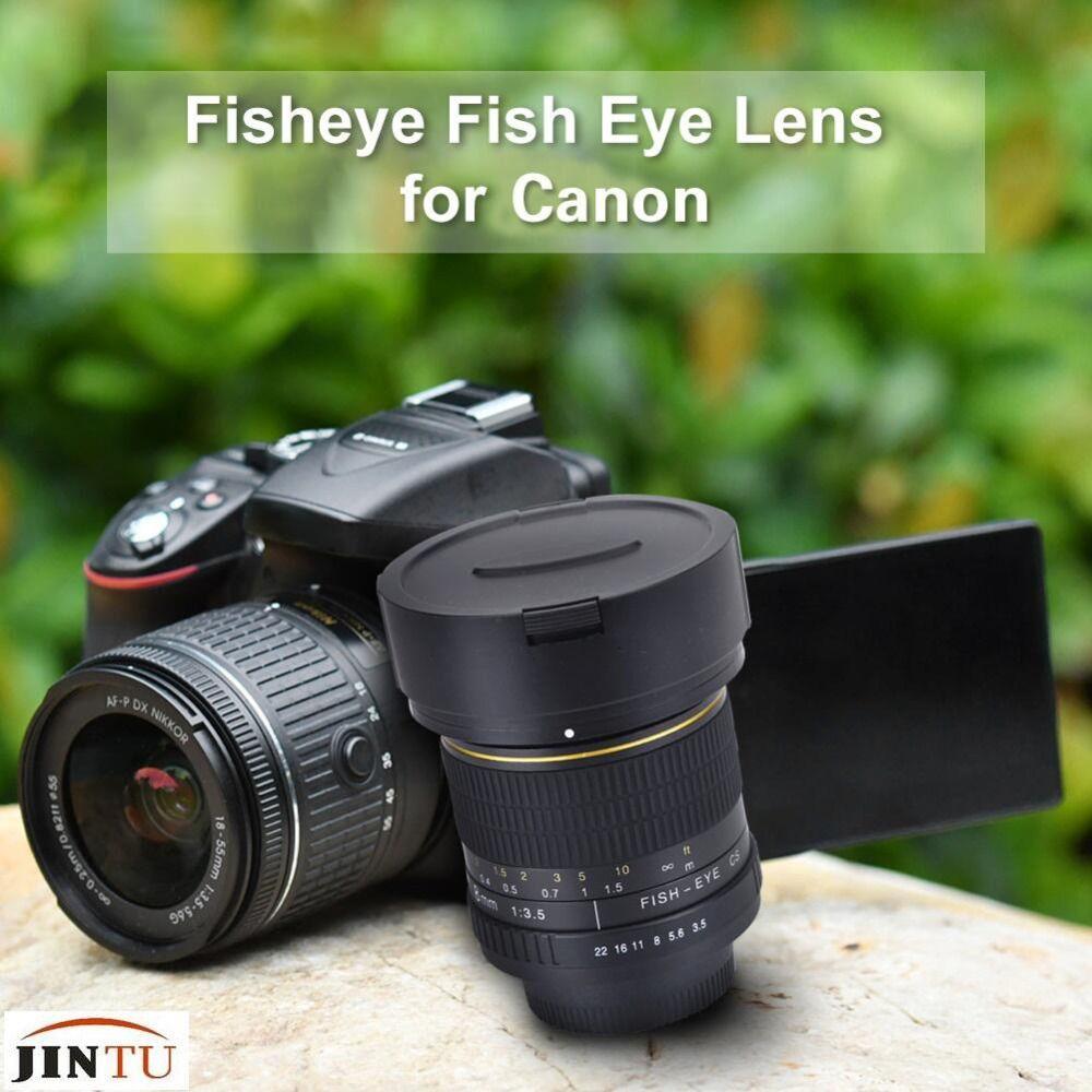 JINTU 8mm f/3.5 Manual Focus Ultra Wide Angle Fisheye Lens for Canon SLR Camera 550D 80D 70D 60D 750D 600D 1200D 760D 750D 1100D
