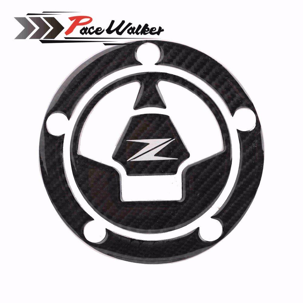 3D Carbon Fiber Tank Gas Cap Pad Filler Cover Sticker Decals Fit KAWASAKI Z1000 Z1000SX Z800 Z750 Z250