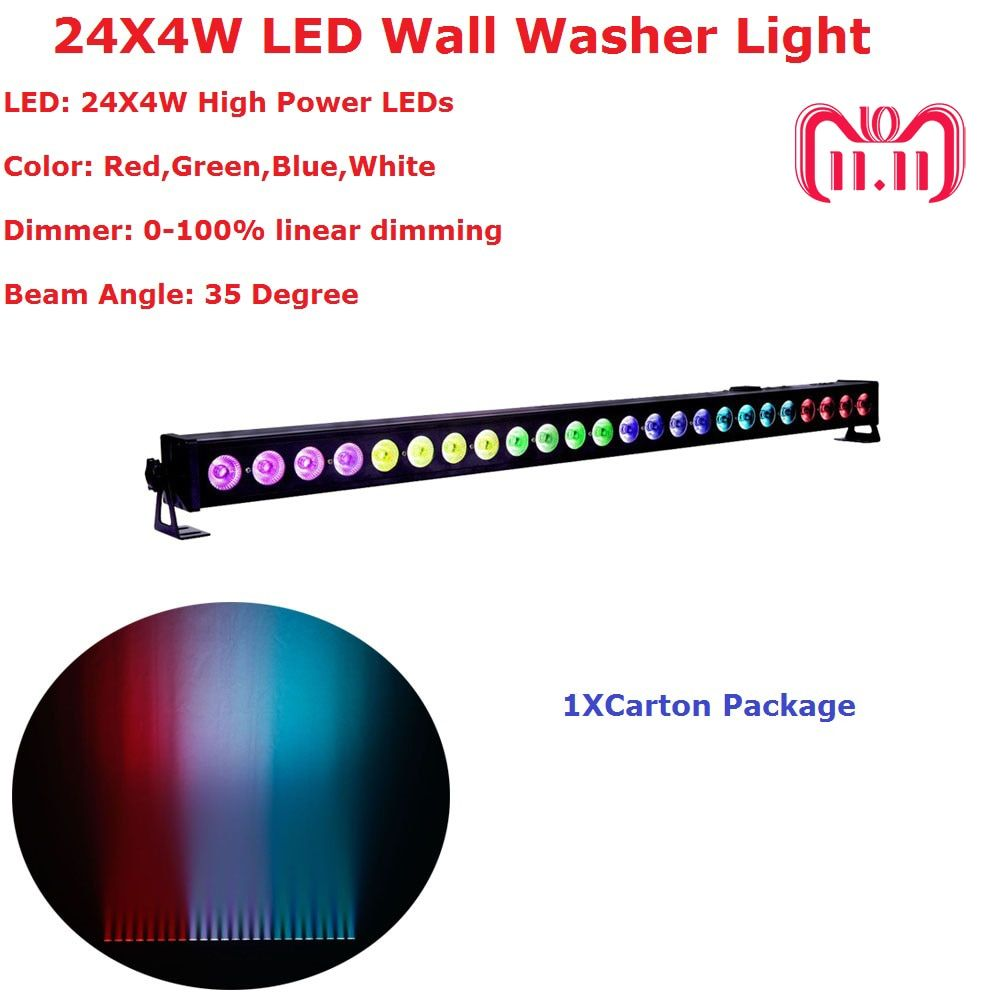High Quality 24X4W Indoor Led Wall Washer Lights RGBW Led Bar Light DMX Mode,Led Stage Light Non-Waterproof IP20 110-240V
