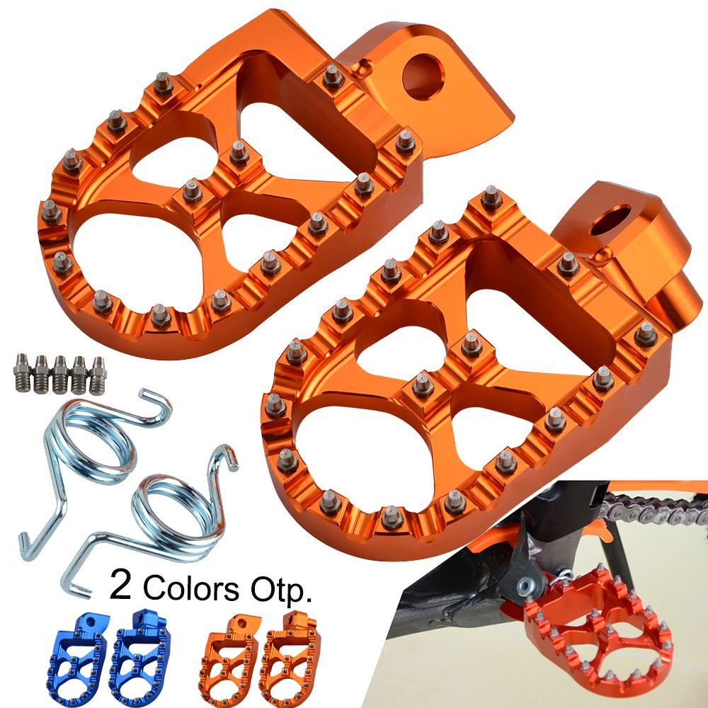 Footrest Foot Pegs Rest Pedal For KTM 85 125 250 SX 350 450 SXF 200 XC XCF EXC EXCF 530 XCW XCFW Freeride Husqvarna Yamaha Beta
