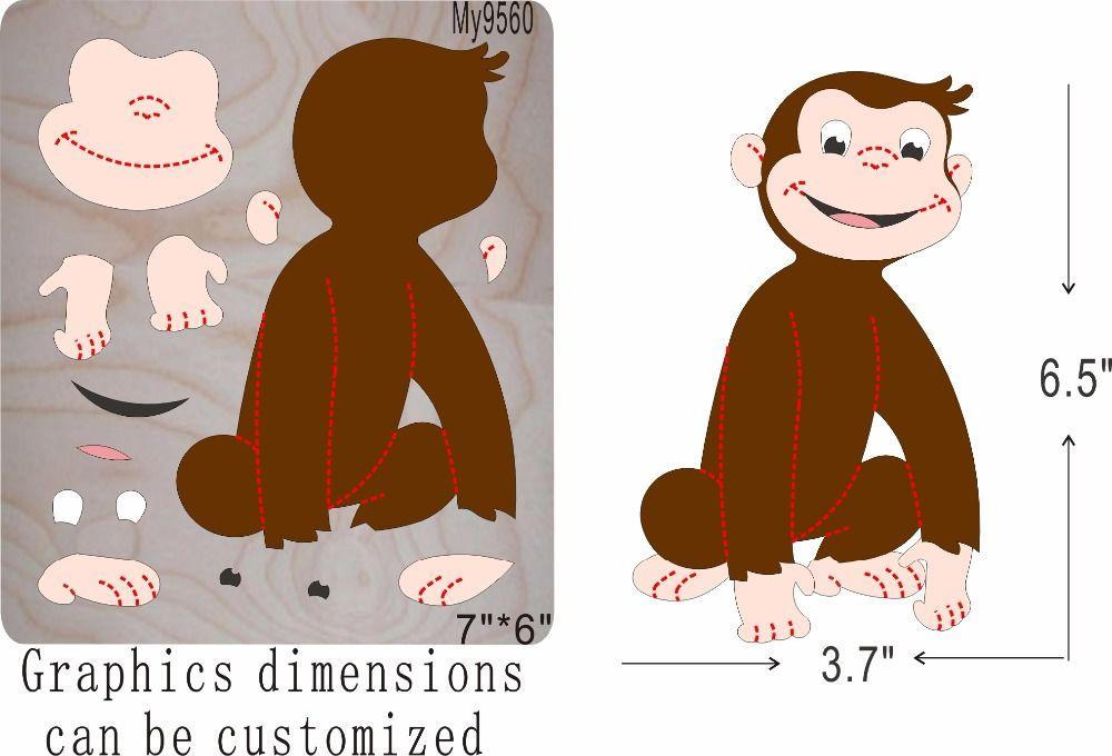A lovely Orangutan wooden mold die cut accessories wooden die Regola Acciaio Die Misura ,MY
