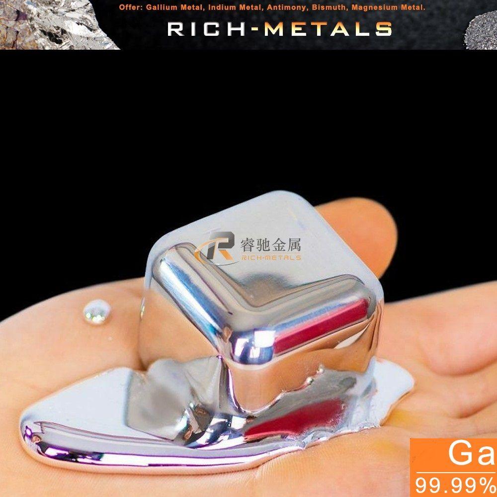 20 grammes 99.99% de métal de Gallium pur