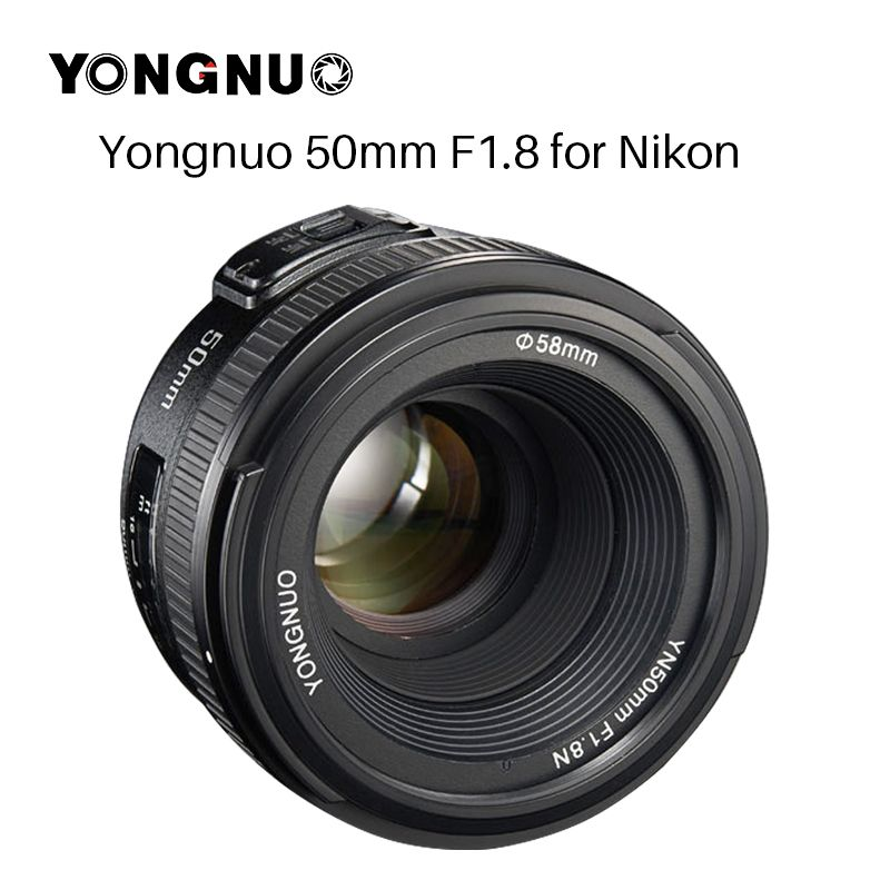 YONGNUO YN50MM F1.8 Large Aperture Auto Focus Lens full frame as AF-S 50mm f1.8 for Nikon D3300 D5300 D5100 D750 Camera DSLR