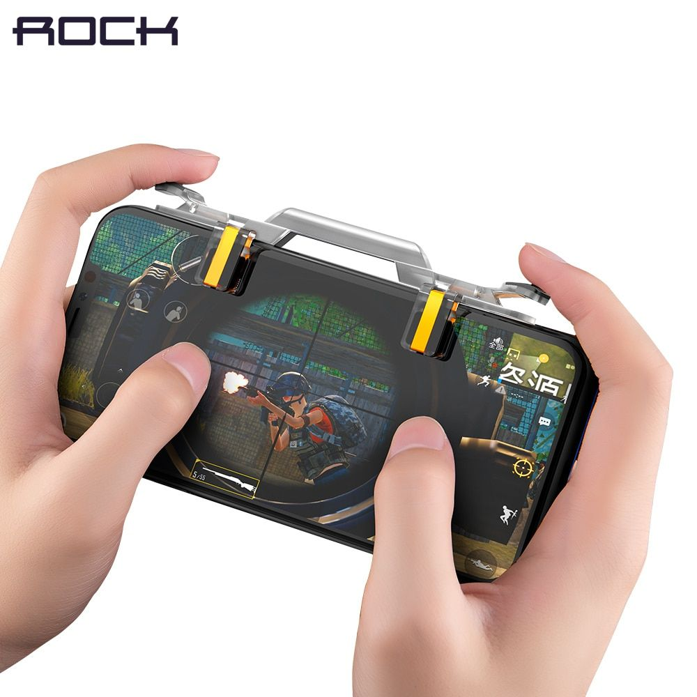 Rock Phone Gaming Trigger for PUBG Rules of Surviva Smart Phone Game Fire Button Shooter Controller For Android IOS For iPhone