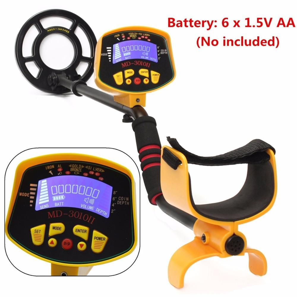 MD3010II Professional Metal Detector Underground with LCD Display Gold Silver Digger Detector Coin Treasure Hunter metal finder