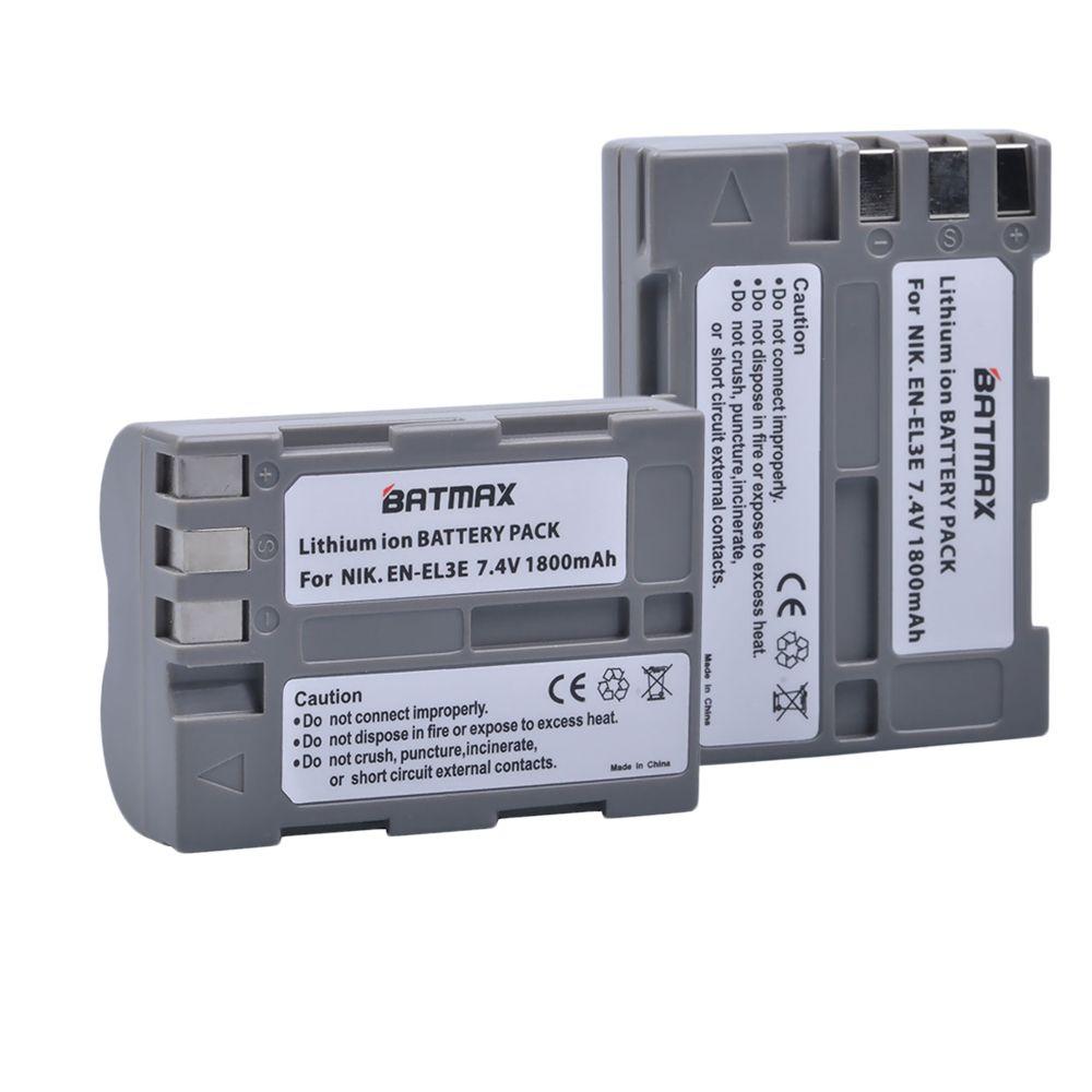2-pack N-EL3e EN EL3e ENEL3e Remplacement Batterie pour Appareil Photo Nikon D300S D300 D100 D200 D700 D70S D80 D90 D50