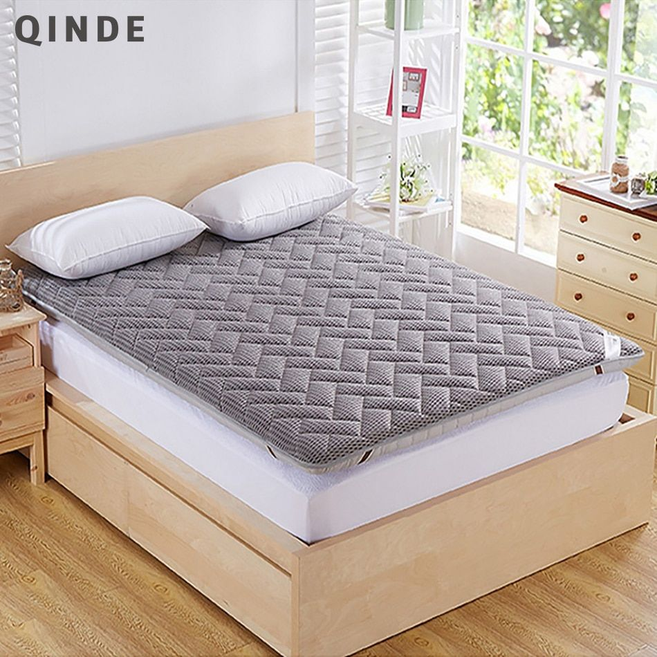 QINDE Hot Mattress Wholesale Breathable Thickened Single Dormitory Mattress Three-Dimensional Foam Mattress Public House TO USE