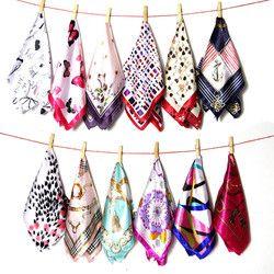 50*50 CM 28 colores bufandas cuatro estaciones disponibles 2018 moda mujer profesional de pequeños cuadrados nuevo diseño bufanda de seda