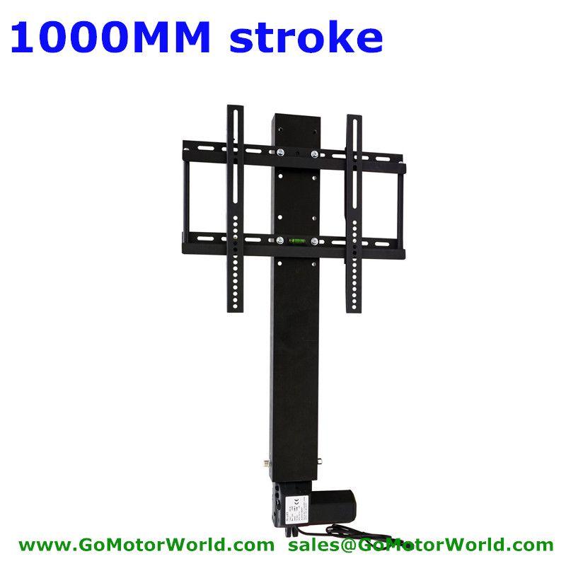 TV lift support TV support TV 110-240 V AC entrée 1000mm 40 pouces course avec télécommande et contrôleur et pièces de support de montage