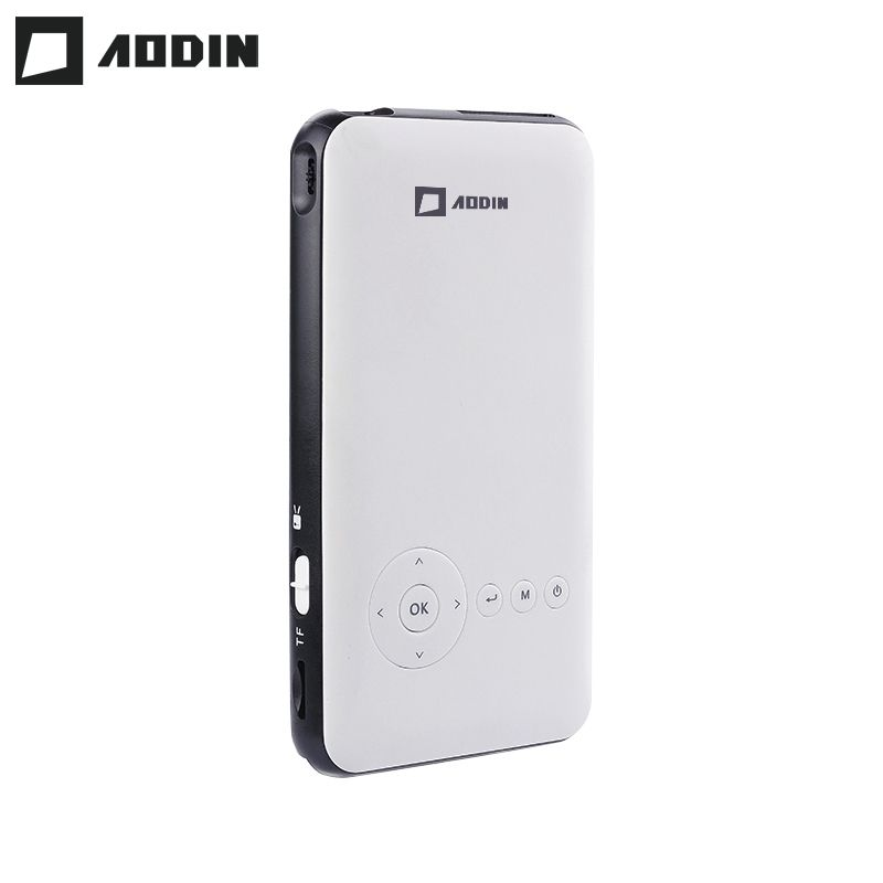 AODIN 8G HD DLP Mini projector Android 7.1 HDMI Output Airplay pocket projector for home theater smart led portable projectors