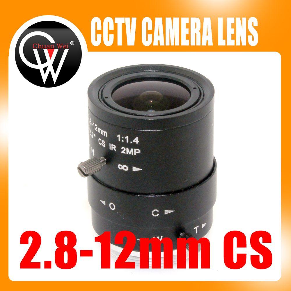 2MP HD 2,8-12mm cctv objektiv CS-Mount Manuell Brenn IR 1/2. 7