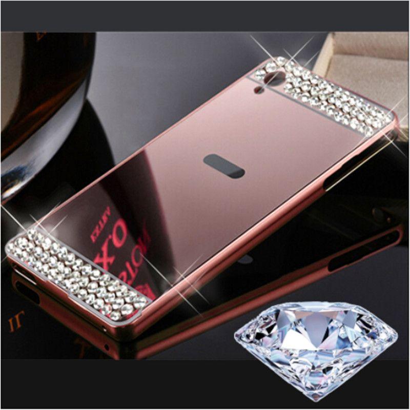 Diamond Mirror Metal Crystal Rhinestone Phone Case For Lenovo K6 Note K5 Plus K3 K4 Note ZUK Z2 S90 P2 P70 K900 S850 Z90 A6000