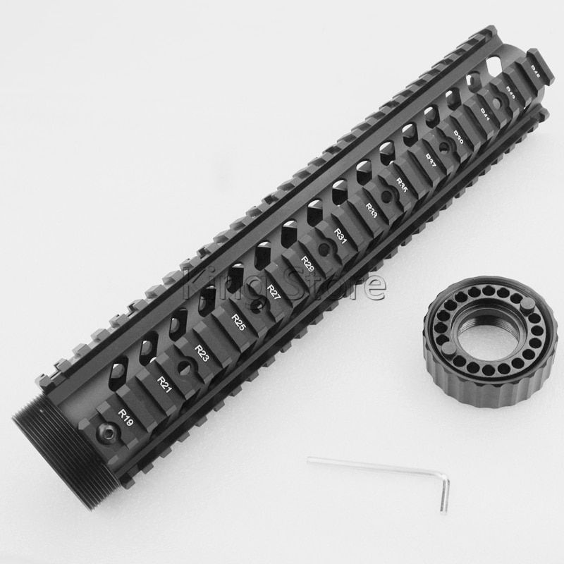 High Quality Tactical M4 AR15 Free Float 12 Inch Handguard Quad Rail .223/5.56 Picatinny Scope Mount Free Float Hand Guard