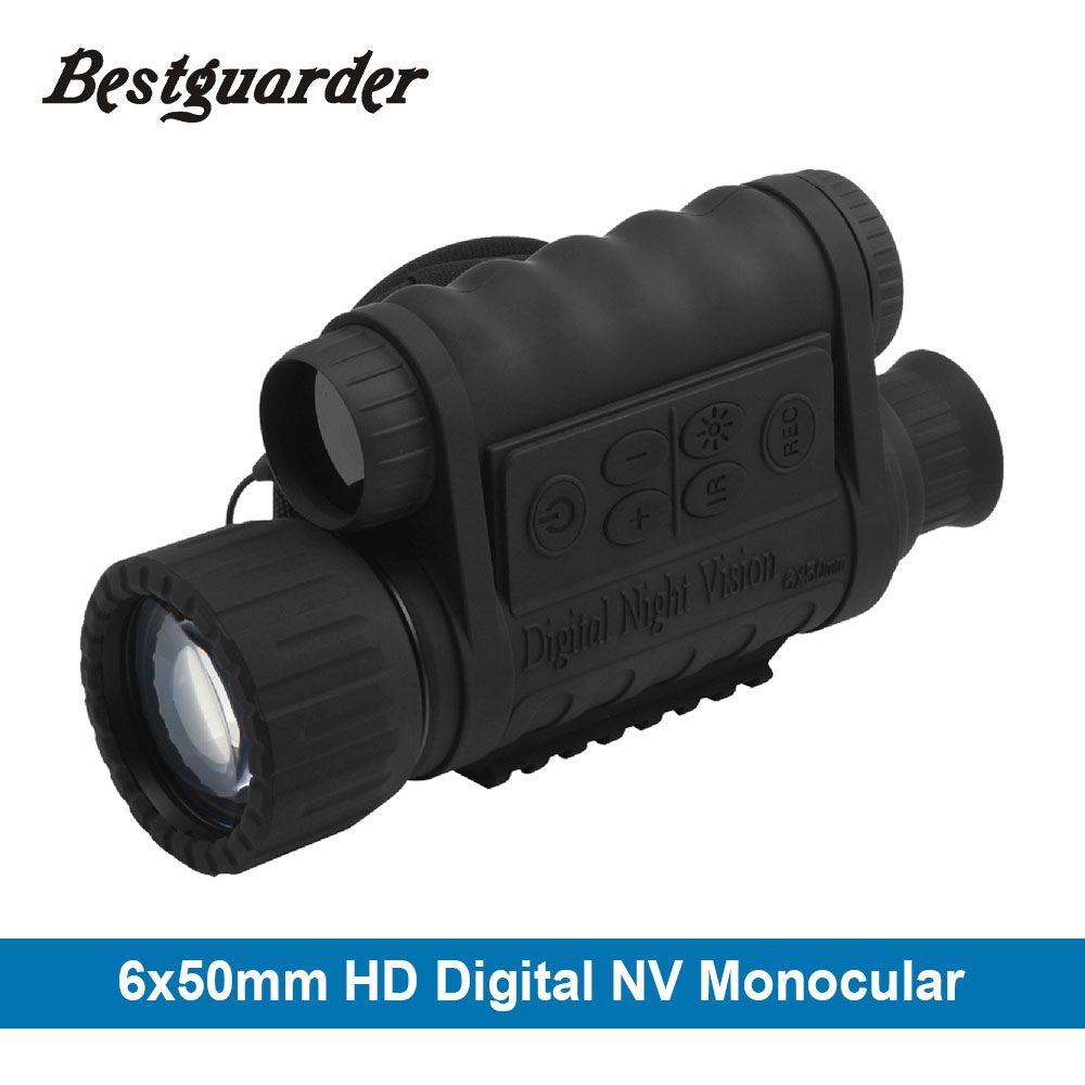 6x50mm HD Digital Hunting Night Vision Monocular Goggles GPS LCD Infrared IR Telescope 5mp Scope Night Riflescope for Animals