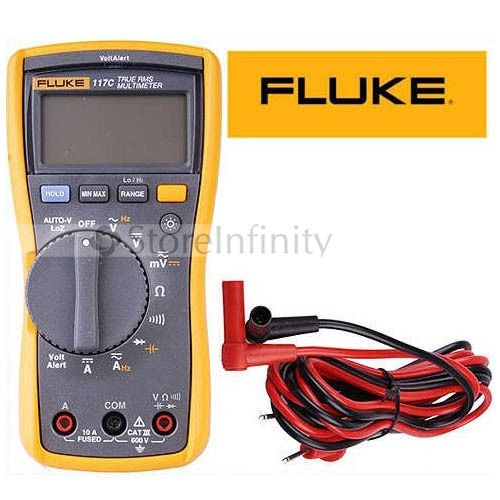 Free Shipping Fluke 117C HAVC VoltAlert Backlight Multimeter 117 True RMS