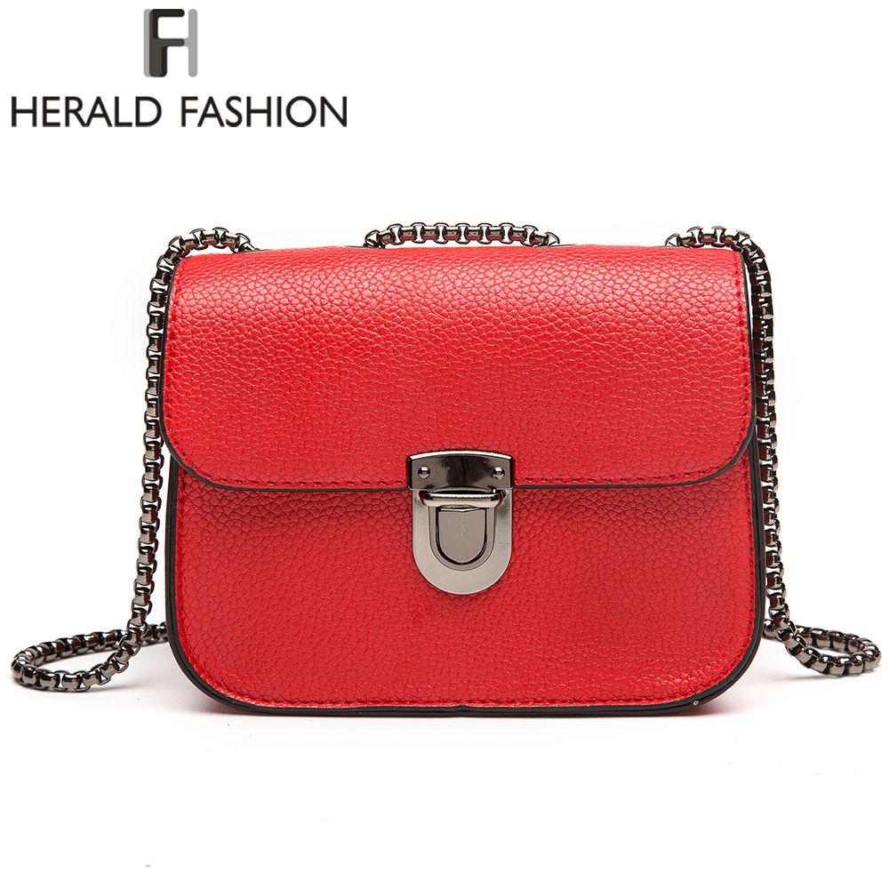 Herald Fashion Brand Chain Messenger Bags Mini Women's Shoulder Bag Fashion Brand shoulder bags  Crossbody Flap Bags