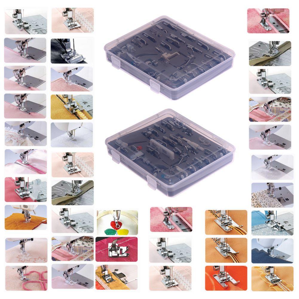 52 stücke Stricken Nadel Heimischen Nähmaschine Presser Füße Gesetzt Nähen Stricken Zubehör Stich Nähfuß Füße Kit