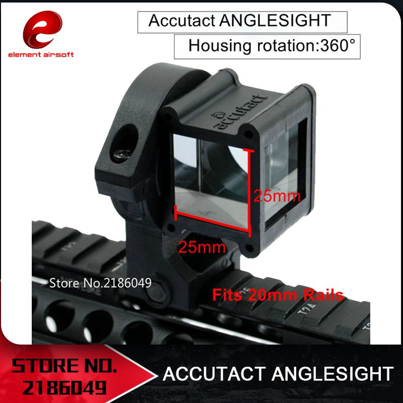 Element Airsoft Tactical Accutact Angle Reflex 360 Sight Rotate For Red dot Aiming Device EX251