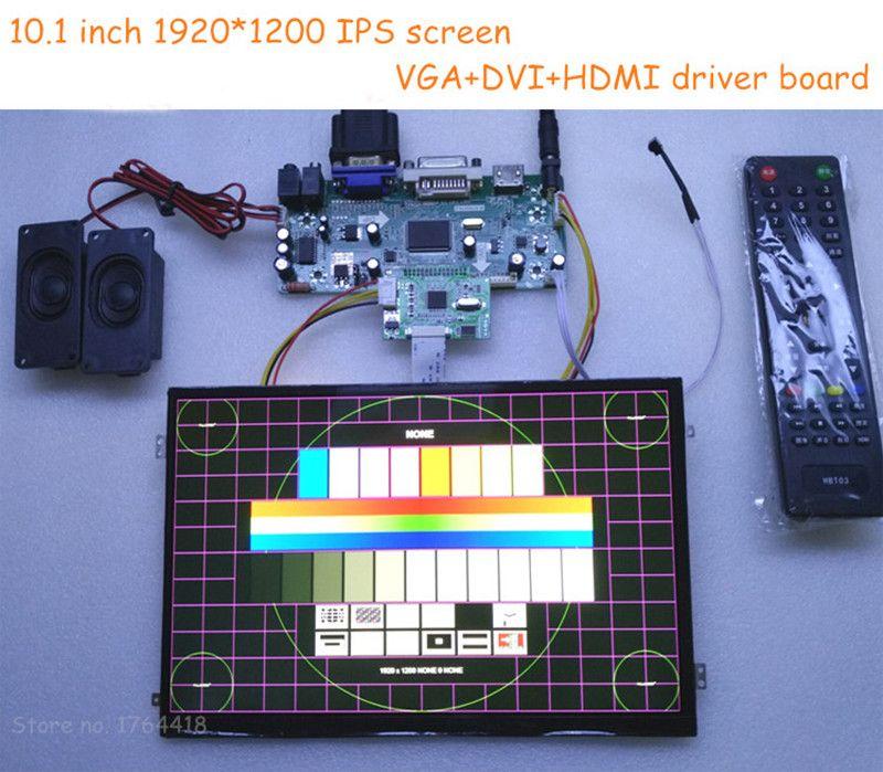 10.1 inch 1920*1200 1080p HD screen monitor IPS HDMI/VGA/DVI for Raspberry pi banana pi XBOX PS3 PS4 projector 3d printer DIY