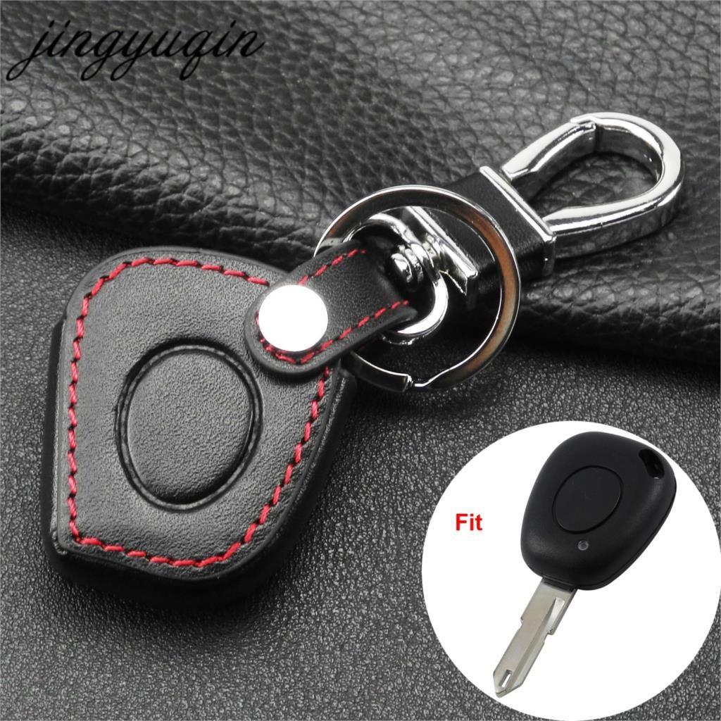 Jingyuqin 1 Taste Key Leder Abdeckung fit für Renault Megane Clio Scenic 1 BN IR Fern Fall Fob Shell Halter